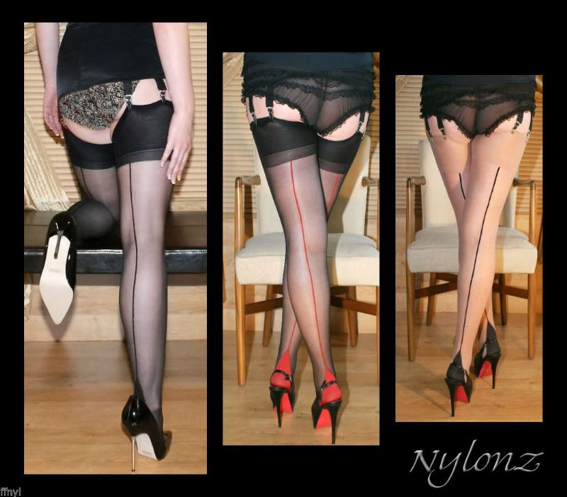 Seamed Luxury Stockings Mixed Colour Pack x3